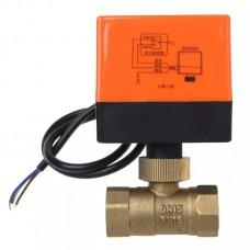 Электрический моторизованный латунный кран от затопления ARWDFG DN15 AC