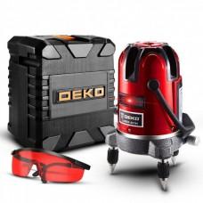 Лазерный уровень нивелир DEKO 5 линий, 6 точек Red + тренога Deko