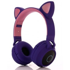 Беспроводные LED наушники с кошачьими ушками j-hel BT028C Purple