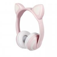Беспроводные Bluetooth наушники с кошачьими ушками, LED подсветка 7 цветов ZW-19