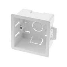 Квадратный подрозетник Compact для гипсокартона White