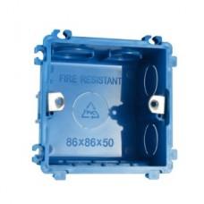 Квадратный подрозетник Compact для твердых стен, пластик 50мм (азиатский стандарт) Blue