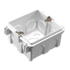 Квадратный подрозетник Compact для твердых стен, пластик 48 мм (азиатский стандарт) White